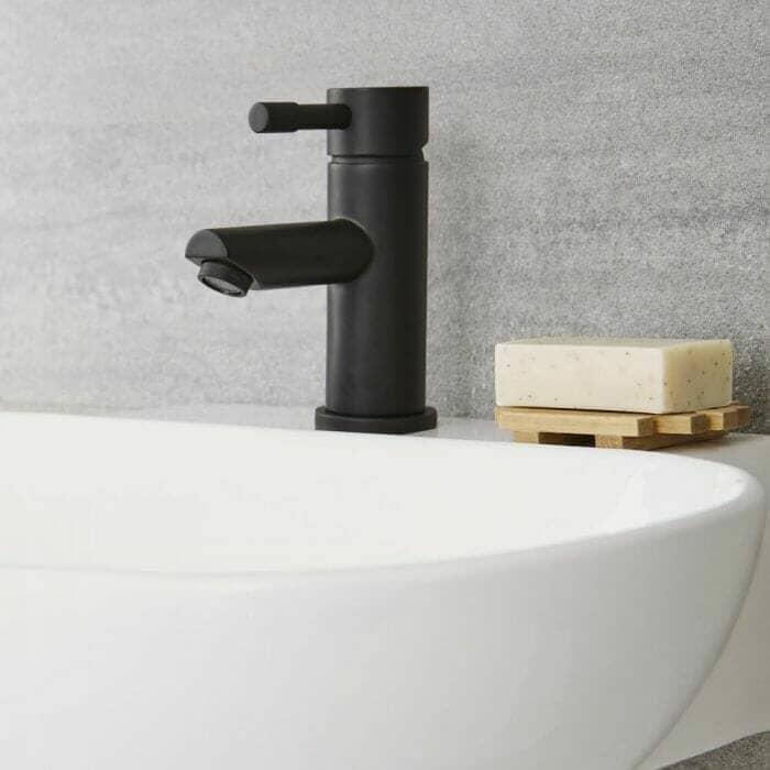 Milano Nero - Mono Basin Mixer Tap - Black