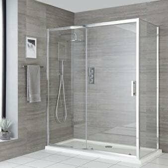 Milano Portland Chrome Sliding Shower Door
