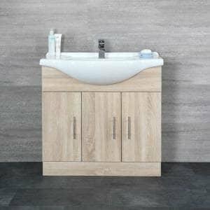 Milano Arch Oak Vanity Unit w/ Basin