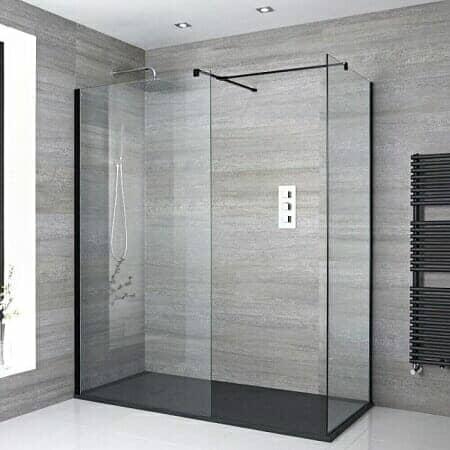milano nero walk in shower corner enclosure