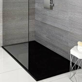 Milano Rasa Anthracite Slate Effect Shower Tray