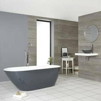 Milano Altcar Stone Grey Modern Freestanding Bath