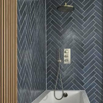 Milano Clarus Thermostatic Shower w/ Diverter, Shower Head, Handshower & Overhead Bath Filler