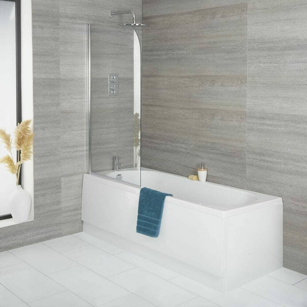 Milano Ballam Standard Single Ended Bath w/ Bath Screen & Front Panel