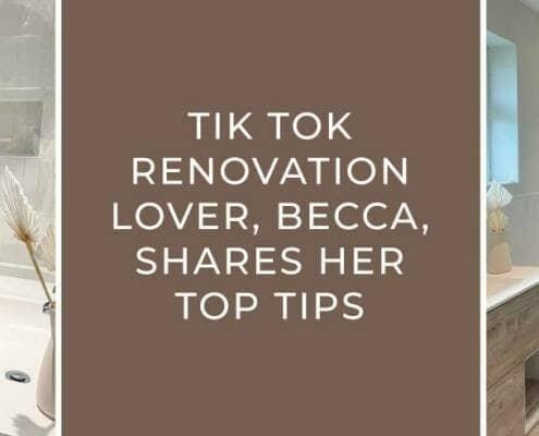 Becca's renovation tips