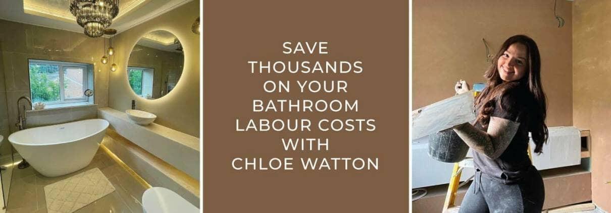 chloe bathroom banner