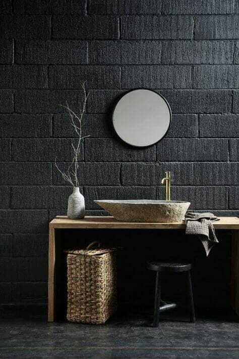 stone oval basin countertop