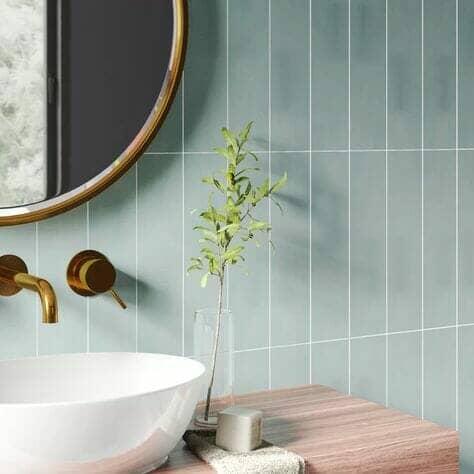 Pastel blue tiles