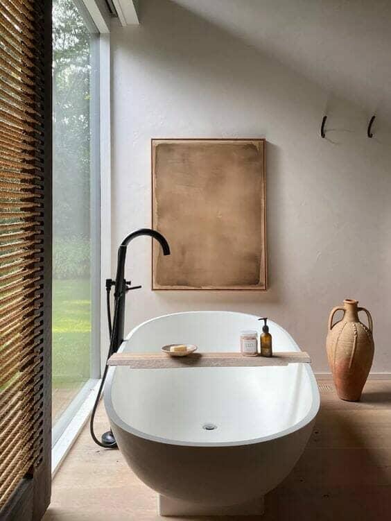 Japandi Bathroom Interior Trend