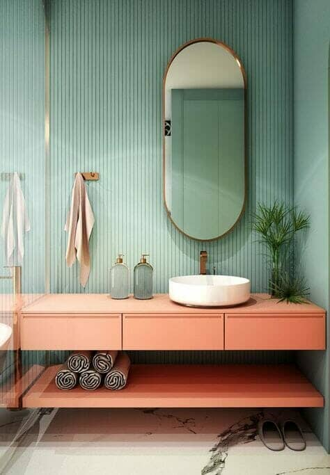 Terracotta vanity unit