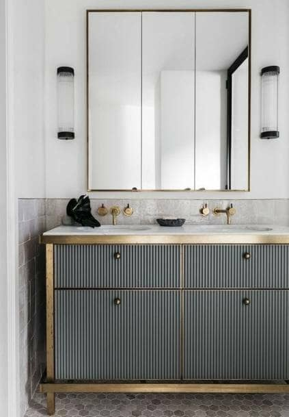 fluted vanity unit