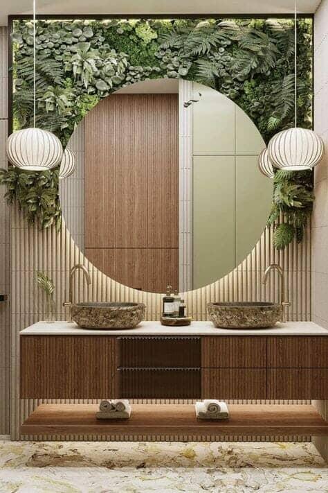 biophilic bathroom design