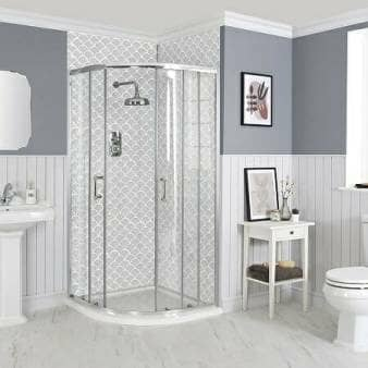 Milano Langley - Traditional Quadrant Shower Enclosure - Choice of Sizes