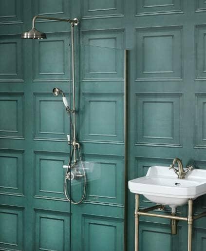 Green panel bathroom