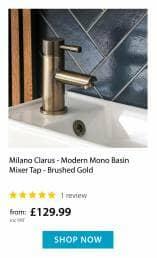 Clarus gold basin tap
