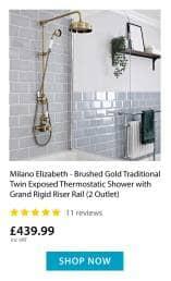 Elizabeth gold thermostatic shower
