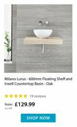 Countertop Basin with Floating Shelf