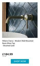 Milano Clarus wall mounted tap
