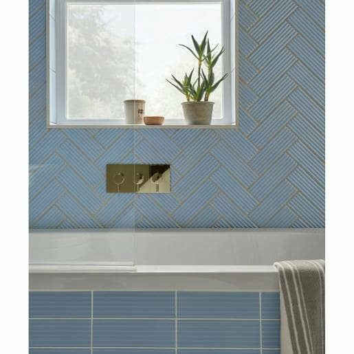 Bright skies fluted tiles